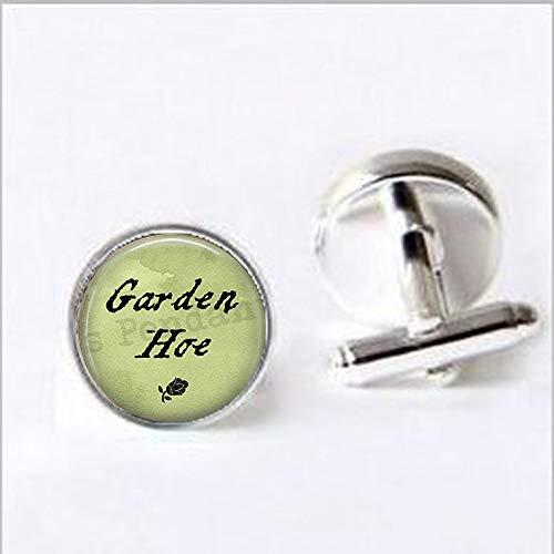 bab Gardening Pun Zitat Gartenhacke Biene Charm-Gartenschmuck Geschenk für Gärtner lustiges Zitat Gartenhacke Manschettenknöpfe - Bibel-Zitat Anhänger - Religiöse Manschettenknöpfe