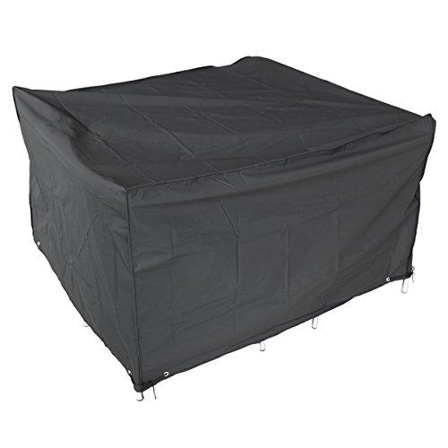 SurePromise One Stop Solution for Sourcing Housse de Protection Noir pr Meubles Jardin extérieurs Bâche de Couvercle Cube 120x120x74cm