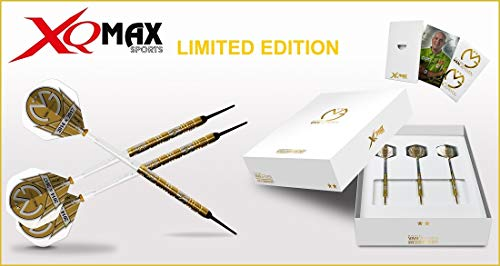 XQ MAX (Michael Van Gerwen Soft Dart World Champion Limited Edition 2017 18 g, Color Blanco, 18 g