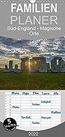 Foto-Momente Sued-England - Magische Orte - Familienplaner hoch (Wandkalender 2022 , 21 cm x 45 cm, hoch): Eine magische Reise von Stonehenge ueber Glastonbury an die Kueste von Cornwall (Monatskalender, 14 Seiten )