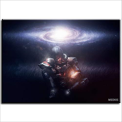 Lienzo pintura al óleo Comandante Shepard Mass Effect DIY pintura niños diy pintura al óleo 40X50 (sin marco)