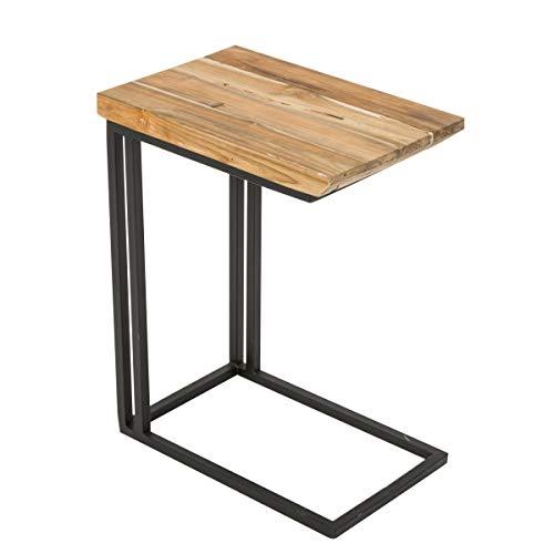 Pureday miaVILLA Beistelltisch Amin - Sofatisch - Holz - ca. B30 x T45 x H58,5 cm
