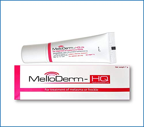 Melloderm-Hq 2% Once Daily at Night (Pack Size 0.25 Ounces) Active Ingredient Hydroquinone 2 Percent gel for Melasma