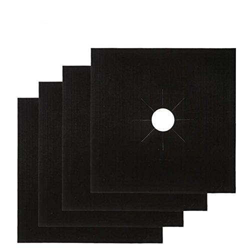 Momshand 4-Pack double épaisseur à gaz Gamme protecteurs – 26,9 x 26,9 cm réutilisable, antiadhésif, passe au lave-vaisselle, cuisinière Sacs