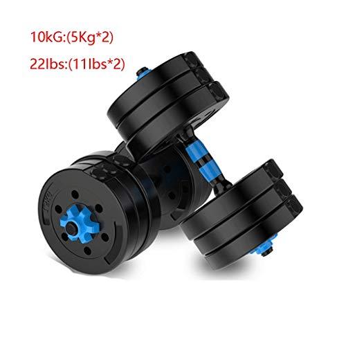 15kg / 20kg Verstelbare Halter For Men Exercise Equipment Milieuvriendelijke Afneembare Dual-use Dumbbell Barbell Huis (Color : Black, Size : 10 kg)