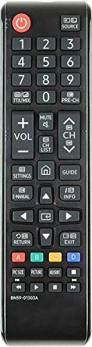 Mando a Distancia de Repuesto Compatible con Samsung UE49NU7300KXXU 49' NU7300 Curved Ultra HD Certified HDR Smart 4K televisión