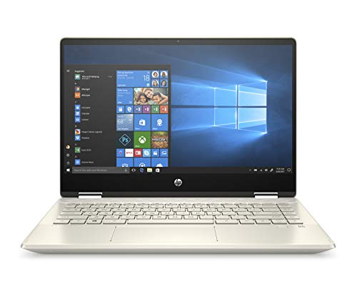 "HP Pavilion x360 14-dh0004ns - Ordenador portátil convertible táctil de 14"" FullHD (Intel Core i5-8265U, 8GB RAM, 256GB SSD, Intel Graphics, Windows 10) color dorado - Teclado QWERTY Español"