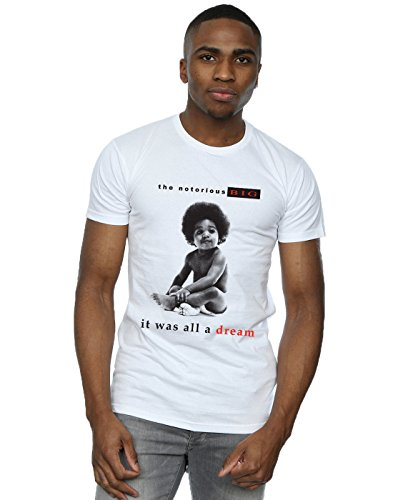 Notorious BIG Men's It Was All A Dream T-Shirt White Large
