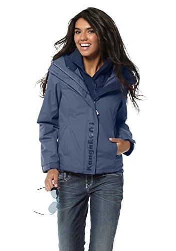 KangaROOS Damen 2in1 Funktionsjacke Jacke (34, Blau)