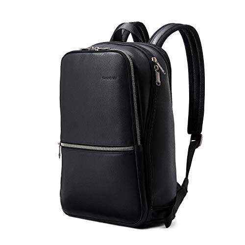 Samsonite Classic Leather Slim Backpack, Black, One Size