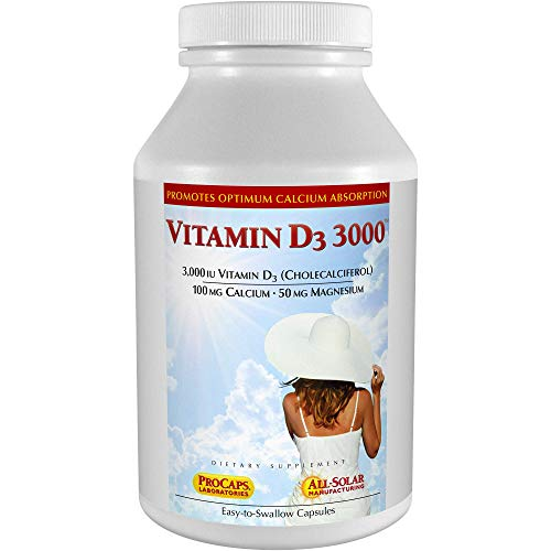 Andrew Lessman Vitamin D3 3000 IU 720 Capsules – High Potency, Essential for Calcium Absorption,...