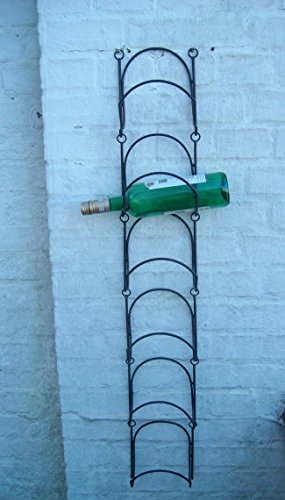 Weinregal, Flaschenständer, Flaschenhalter, f. d. Wand, 6er, Eisen, 95207EL11