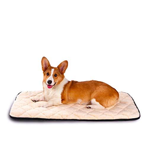 QIAOQI Dog Bed Crate Mat Kennel Pad | Washable Orthopedi Antislip Beds Cushion Padding