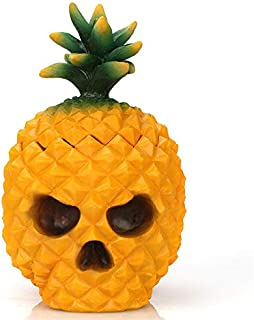 SODIAL Resin Pineapple Skull Desktop Storage Box Organizer Table Decor Ornaments Design Desk Decor Makeup Organizer Container