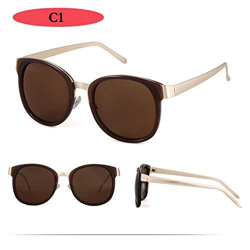 WZYMNTYJ Frauen Sonnenbrillen Luxus Vintage Spiegel Gläser Retro Platz Sonnenbrille Weibliche Mode Eyewear UV400