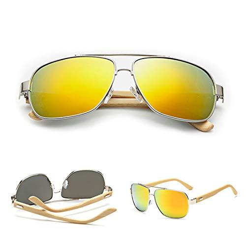 GYZ Gafas de Sol de Madera Retro Vintage Designer Wayfarer Aviator Deportes al Aire Libre UV400 Gafas de Sol (Color : 2)