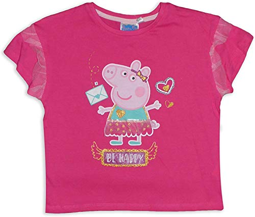 Peppa Pig - Camiseta de manga corta de algodón para niñas