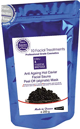Maschera al Caviale peel-off Sauna Viso Maschera Anti Eta 200g - Made in France