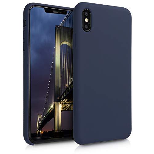 kwmobile Hülle kompatibel mit Apple iPhone XS Max - Handyhülle gummiert - Handy Case in Dunkelblau matt