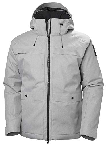 Helly Hansen Men's Chill Hooded Waterproof Breathable Insulated Parka Coat, 841 Penguin, Small