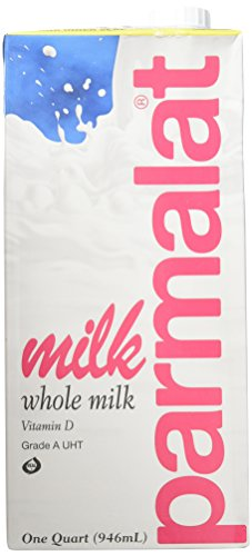 Parmalat Shelf Stable UHT Whole Milk 1 Qt (Pack of 6)