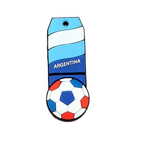 Voetbal Argentinië Vlag USB Flash Drive 8GB - Memory Stick Data Opslag - Pendrive