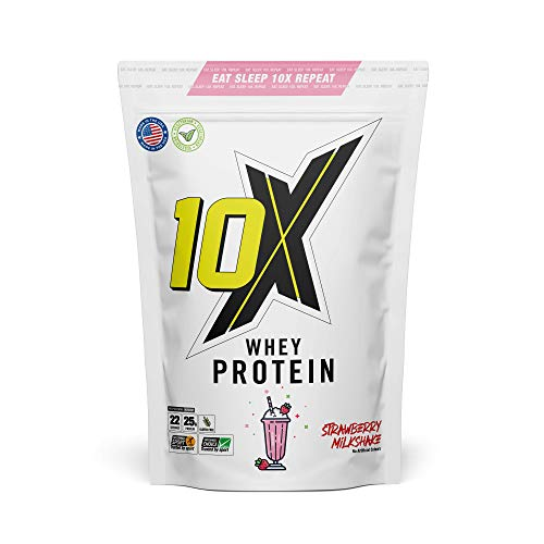 10X Athletic Whey Protein, Low Calorie, High Protein, Vegetarian, Informed Sport, Various Flavours, 700g-750g (Strawberry Milkshake)