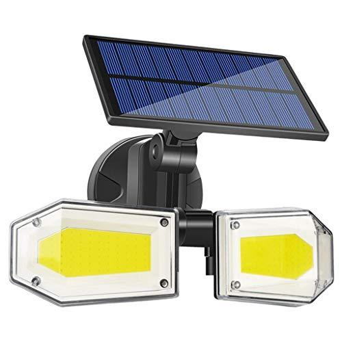 petsola Luces LED con Sensor de movimiento Solar al aire libre, luces de pared de movimiento Solar, iluminación de seguridad impermeable de 500 lúmenes para - 130 LED