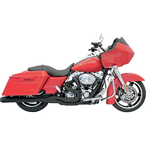 Bassani Xhaust B4 2-Into-1 Exhaust with Megaphone Muffler (Black) for 06-16 Harley FLHX2