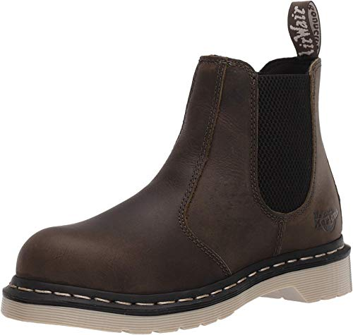 Dr. Martens Women's Work Construction Boot, DMS Olive Wyoming, 9 M US