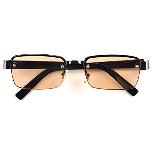 MU CHAOHAI Heren Dames Half Montuur Half Montuur Metalen Montuur Leesbril Bruine Transparante lens