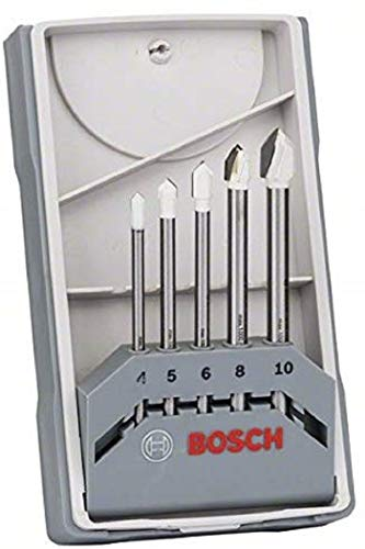 Bosch 2608587169 Set de 5 Forets à carrelage CYL-9 céramique 4,0/ 5,0/ 6,0/ 8,0/ 10,0 mm