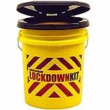 Essential Packs Lockdown Bucket with Toilet Seat Lid