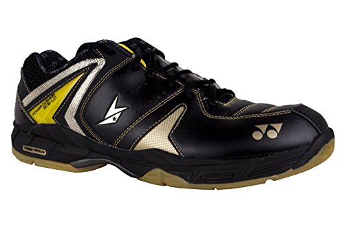 YONEX SHB SC6LD Lin Dan exclusivo para hombre bádminton zapatos de 2015 YCSports negro o amarillo Negro negro / negro Talla:UK 8 / UE 42