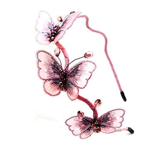 Diadema de mariposa para mujeres Aro de pelo Diadema de niñ