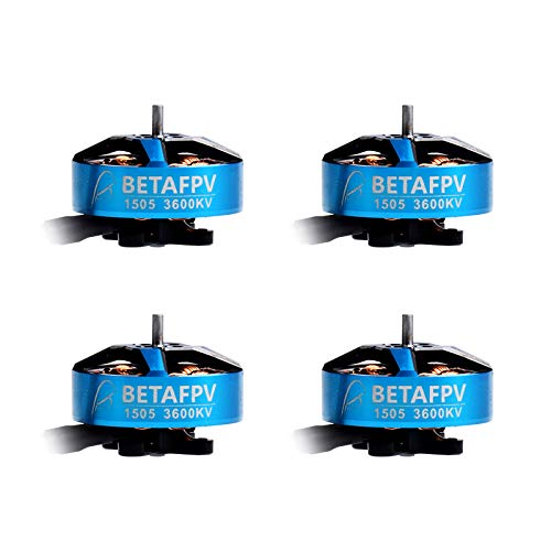 BETAFPV 4pcs 1505 3600KV 4S Brushless Motor FPV RC Motor for F4 AIO 20A Toothpick FC 4S Brushless 3-4Inch Micro Quadcopter Racing Toothpick Drone