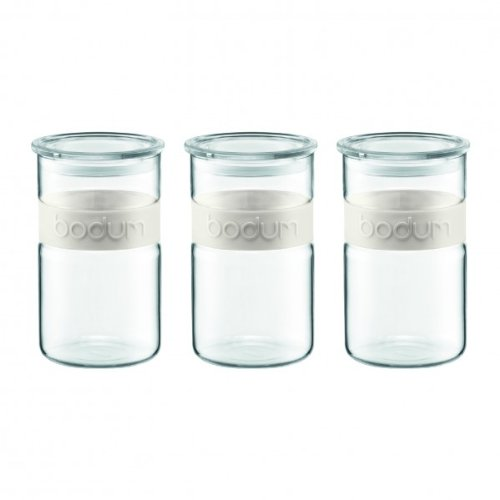 Bodum PRESSO Vorratsglas, Glas, Weiss