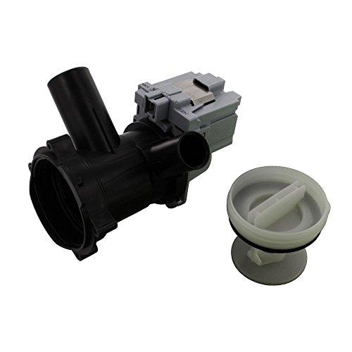 Europart no original Bomba de drenaje Filtro de base y Asamblea Vivienda para Askoll Produced Bosch Maxx WFB/cwf, DMA/WFL/WFO, WFR, la Federación Series/M50/RC0036, 230V, 50Hz, 0,22A, 30W, 155cl