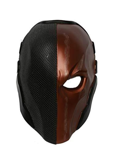 Wellgift Halloween Maske Helm Erwachsene Cosplay Kostüm Herren Ritter Harz Gesichtsmaske Replik Fancy Dress Merchandise Zubehör