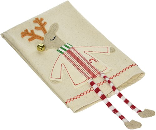 Mud Pie Reindeer Dangle Leg Towel