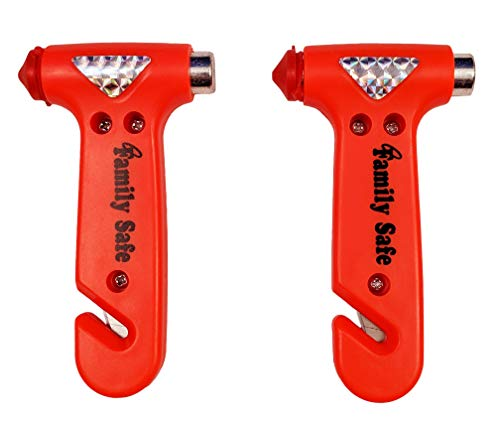 2 Pack Multi Tool with Seatbelt Cutter and Window Breaker