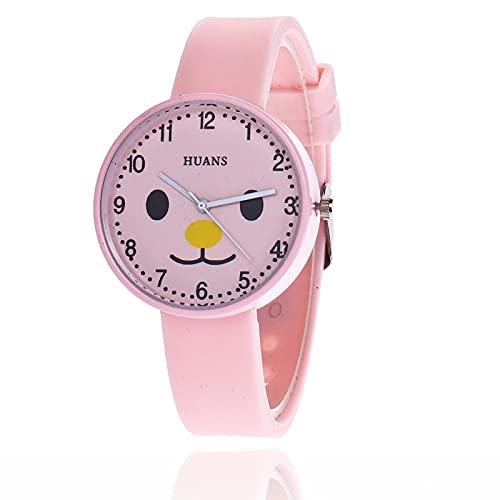 Reloj para Niño Reloj para Niños Reloj Estilo Gelatina Reloj para Niños Chica Piggy Dibujos Animados Lindo Estudiante Pequeño Reloj Fresco Rosa