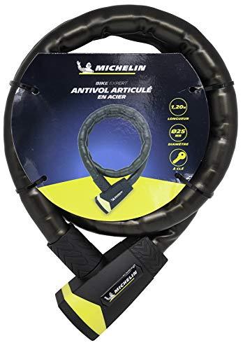 MICHELIN 801111 - Cavo antifurto a chiave, Ø 25 mm, 1,2 m snodato