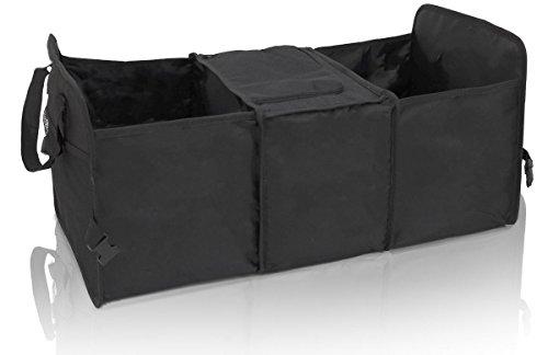 EYEPOWER Kofferraumtasche Kühlfach 60x32x29 cm Auto Organizer Kühl-Tasche Faltbare Kofferraum Aufbewahrungs-Box Schwarz