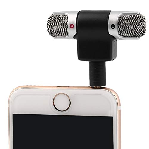 DIYEUWORLDL Mini 3.5mm Jack Microphone Stereo Mic for Recording Mobile Phone Studio Interview Microphone 1PC