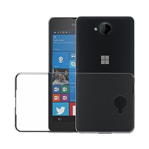 AICEK Microsoft Lumia 650 Custodia Cover, Lumia 650 Silicone Caso Molle di TPU Cristallo Trasparente Sottile Anti Scivolo Case Posteriore della Copertura della Protezione Anti-Urto per Lumia 650