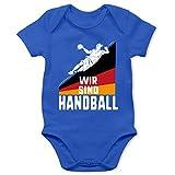 Shirtracer Handball WM 2019 Baby - Wir sind Handball! Deutschland - 12/18 Monate - Royalblau - Handball - BZ10 - Baby Body Kurzarm für Jungen und Mädchen