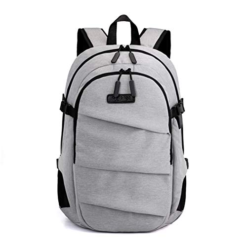 Big Capaciy Business Men's Casual Backpack Travel School Daypacks 15.6 Inch Laptop Backpacks Gray L32cmW16cmH47cm
