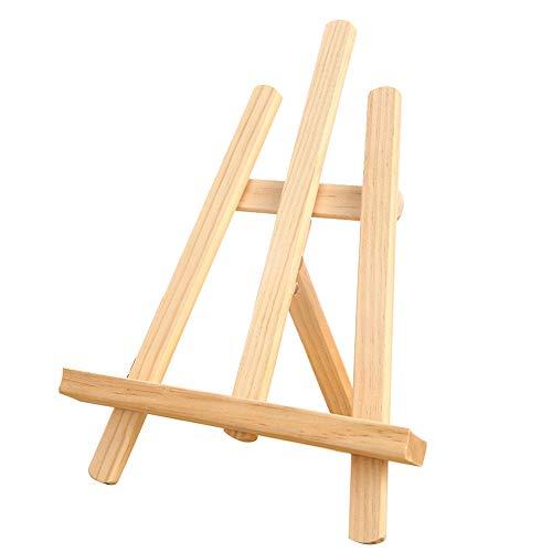 ABOGALE - Caballete de mesa pequeño (madera de haya, tamaño pequeño, para presentar lienzos y bastidores de hasta 30 cm)