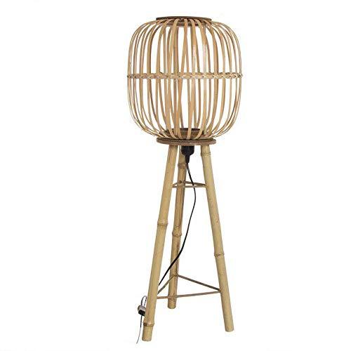 DCASA Pie Bambú Lámparas ambientadoras Anillos de Bombilla Decoración del hogar Unisex Adulto, Color, única